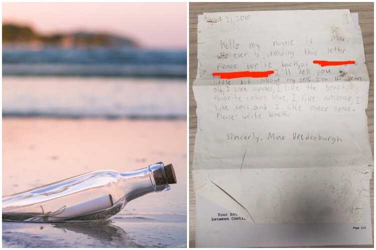 10 Year Old Message In A Bottle