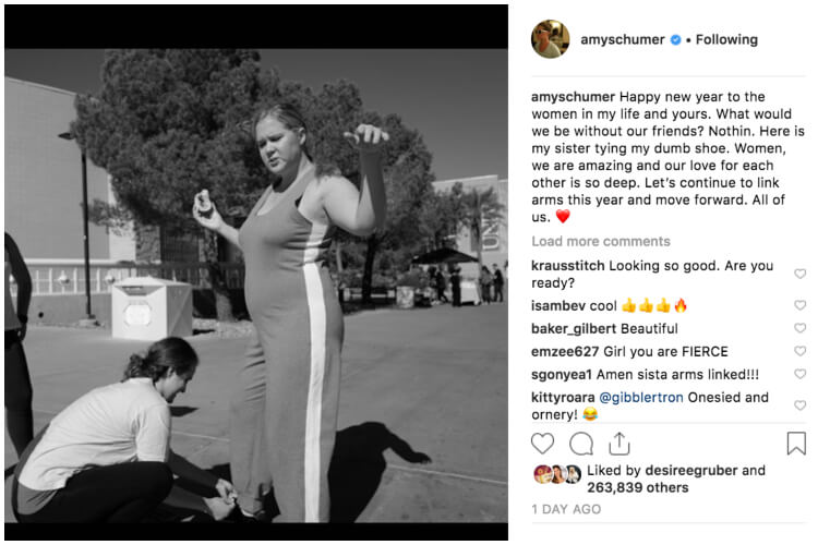 Celebrity New Year's Resolutions 2019 Amy Schumer