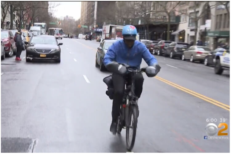 New York City Dominions Pizza Delivery Man Thief