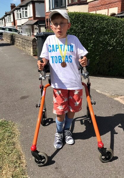 9-Year-Old Boy With Cerebral Palsy Completes Marathon