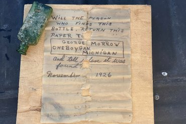 95-Year-Old Message In A Bottle