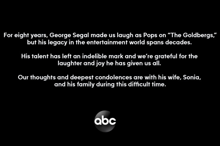 Pops The Goldbergs Died