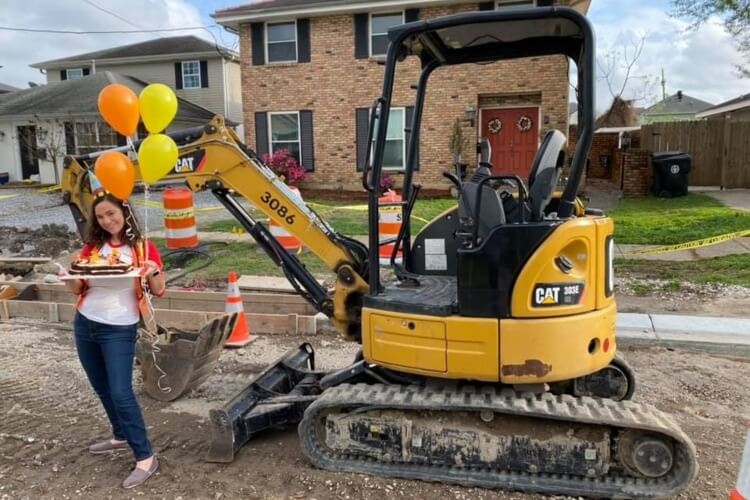 Woman Throws Party for Anniversary of Incomplete Road Work