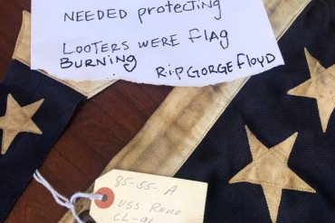 World War II-Era Flag Returned After Protests Turn Violent In Nevada