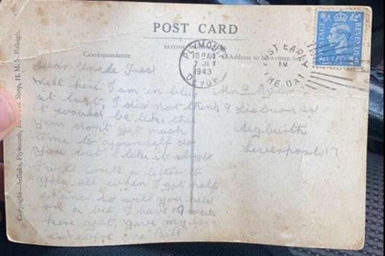 WWII Veteran Postcard Delivered After 77 Years